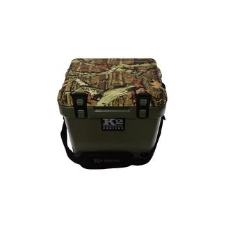 K2 Summit 20 Quart Cooler, Duck Boat Green and Breakup Infinity Camo Lid