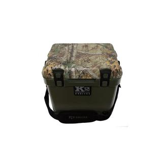 K2 Summit 20 Quart Cooler, Duck Boat Green and Real Tree Xtra Camo Lid