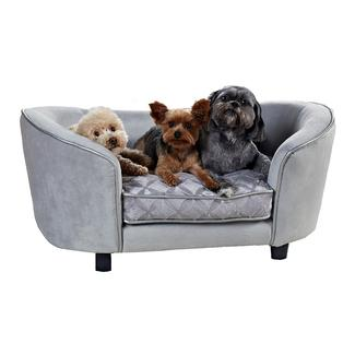 Quicksilver Pet Sofa, Silver
