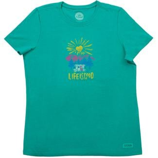Life is Good Women's Sun Heart Crusher Tee, Large