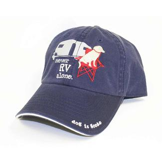 Dog is Good Cap, Never RV Alone