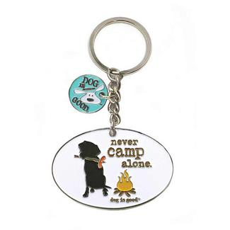 Dog Is Good Never Camp Alone Keychain