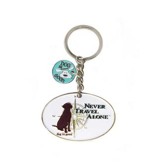 Dog Is Good Never Travel Alone Key Chain