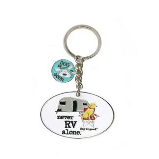 Dog Is Good Never RV Alone Key Chain