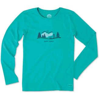 Life is Good Ladies Long Sleeve Happy Trails Dog Walk Tee, Large