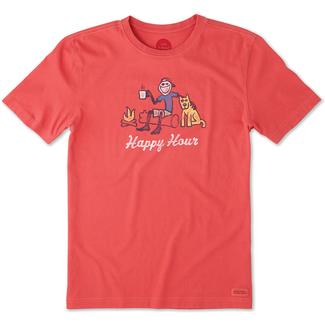 Life is Good Men's Happy Hour Campfire Crusher Tee, Large