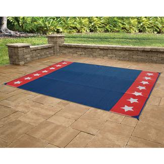 Reversible Stars & Stripes Design Patio Mat, 9' x 12'