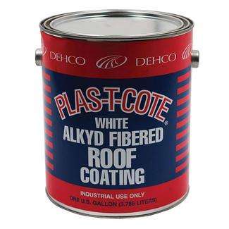 Alkyd Fibered Roof Coating, White - 1 Gallon
