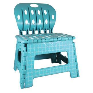 "9"" Foldable Printed Step Stool & Chair"