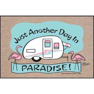 Day in Paradise Door Mat, 18&quot&#x3b; x 27&quot&#x3b;