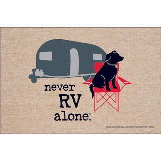 Never RV Alone Door Mat, 18
