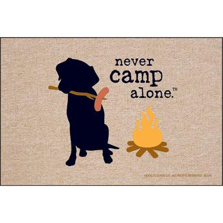 Never Camp Alone Door Mat, 18