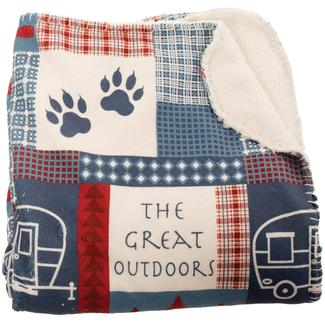 Great Outdoors Reversible Sherpa Throw, 50