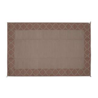 Reversible Trellis Design Patio Mat, 9' x 12', Dark Brown