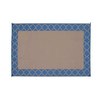 Patio Mat, Polypropylene, Trellis Design, 6'x9', Navy