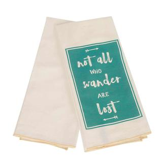 17 x 30 Dish Towel 2-pack, Not All Who Wander