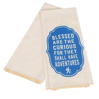 17 x 30 Dish Towel 2-pack, Blessed Are the Curious