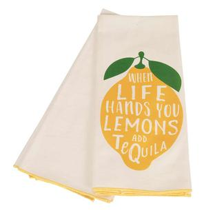 17 x 30 Dish Towel 2-pack, Life Gives You Lemons
