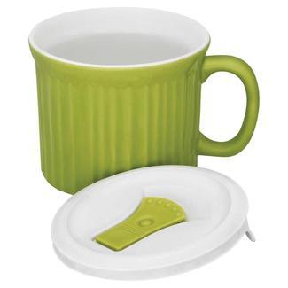 CorningWare 20-oz Mug with Vented Lid, Green