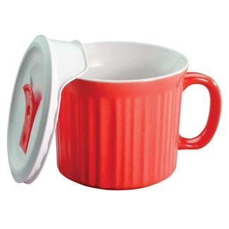 CorningWare 20-oz Mug with Vented Lid, Red