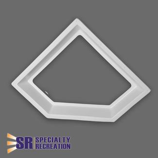 Neo Angle Inner Garnish Skylight, Clear 28&rdquo&#x3b; x 10&rdquo&#x3b;