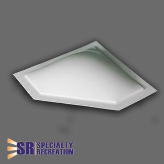 Neo Angle Skylight Dome, 20&quot&#x3b; x 8&quot&#x3b; x 5&quot&#x3b;, Smoke