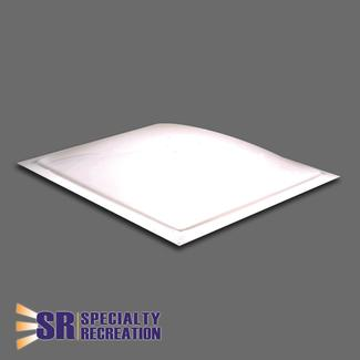 "Thermoformed Polycarbonate 22"" x 22"" RV Skylight, White"