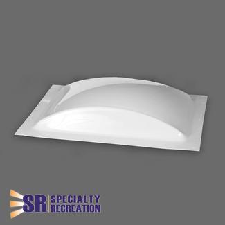 Low Profile Thermoformed Polycarbonate 14&rdquo&#x3b; x 22&rdquo&#x3b; RV Skylight, White
