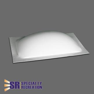 "RV Skylight, Thermoformed Polycarbonate, 18"" x 24"", White"
