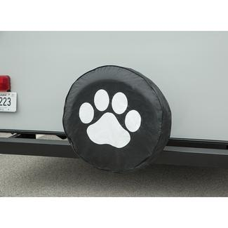 Vinyl Spare Tire Cover, Black Paw, 27""