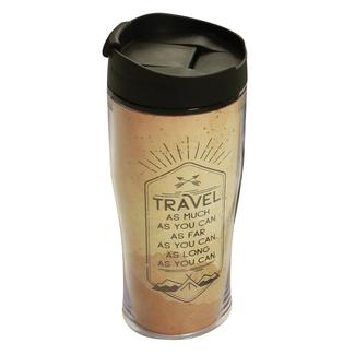 Travel As Much As You Can, Insulated Coffee Tumbler, 15 oz.
