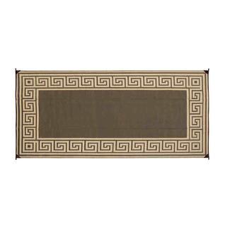Reversible Greek Design Patio Mats, 8' x 16', Brown