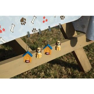 Dog & Doghouse Tablecloth Weights, Set of 4