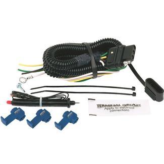 4 Flat Universal Wiring Kit, Common Bulb Turn Signals