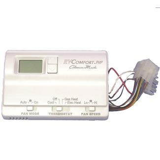 Digital Thermostat, Heat/Cool/Heat Pump, White