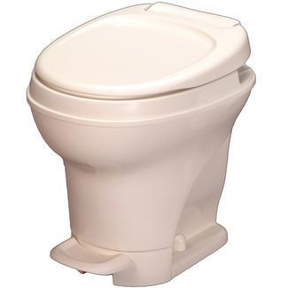 High Profile Aqua Magic V Foot Pedal Flush Toilet, White