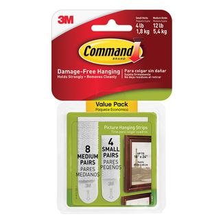 Command Picture Hanging Strips, Small & Medium