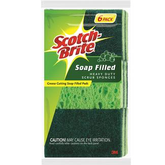 Scotch-Brite Heavy-Duty Soap-Filled Scrub Sponge