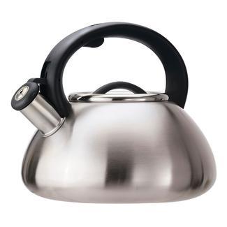 Stainless Steel Whistling Kettle, 2.5 Quart, Matte Stainless Steel