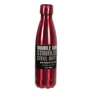 Stainless Steel Bottle, 17 oz, Red
