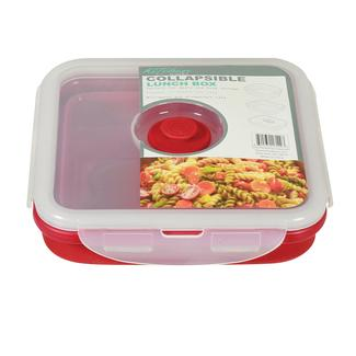 Square 1 Section Collapsible Lunch Kit - Red