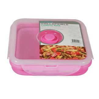 Square 1 Section Collapsible Lunch Kit - Pink