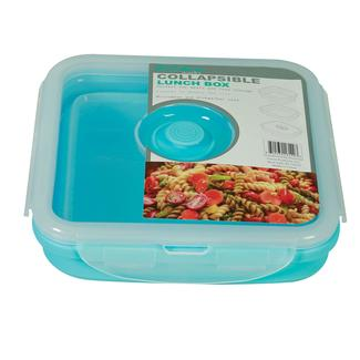 Square 1 Section Collapsible Lunch Kit - Blue