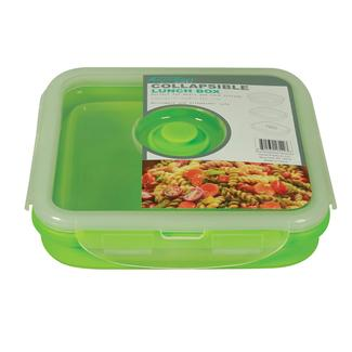 Square 1 Section Collapsible Lunch Kit - Green
