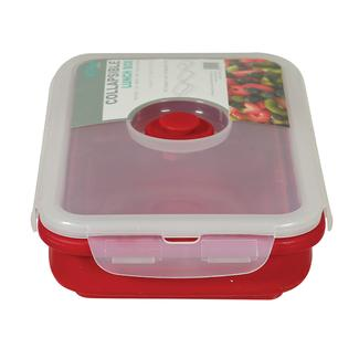 Rectangle 1 Section Collapsible Lunch Kit - Red