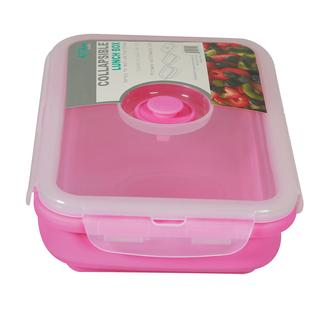 Rectangle 1 Section Collapsible Lunch Kit - Pink