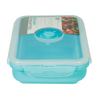 Rectangle 1 Section Collapsible Lunch Kit - Blue