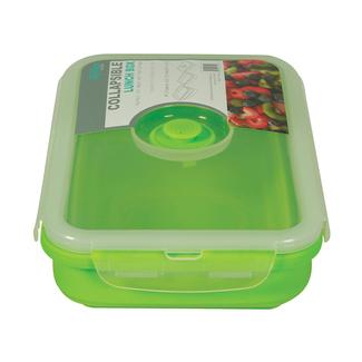 Rectangle 1 Section Collapsible Lunch Kit - Green