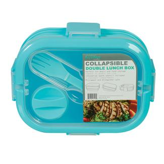 3 Compartment Collapsible Lunch Kit - Blue