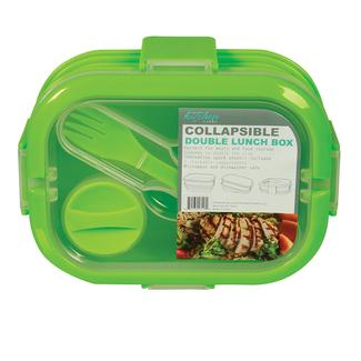 3 Compartment Collapsible Lunch Kit - Green